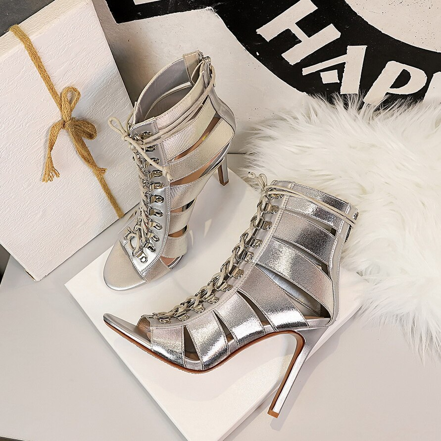 Long Gladiator Sandal Boots