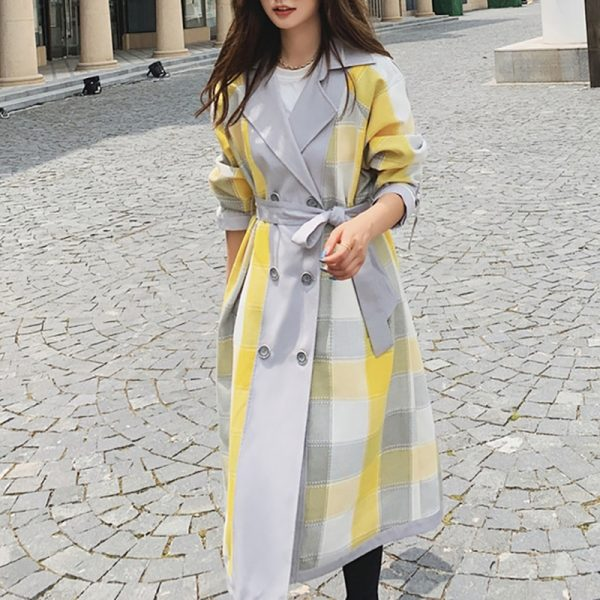 Women's Trench Lapel Collar Coat