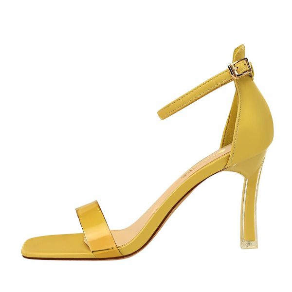 women sandals 2020 Summer high heels femmes sandales fashion transparent PVC heels Female Ankle Buckle strap sandalias heels