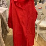 Pleated Back Knee Length Loose Shirt Dress photo review