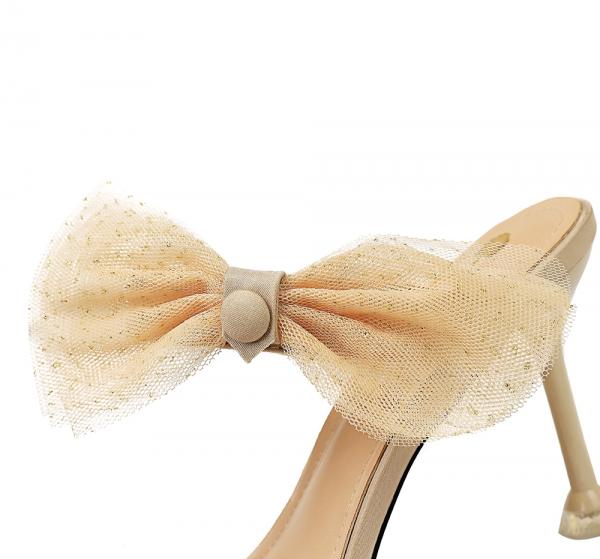 Lace Bow Knot Transparent Sandals