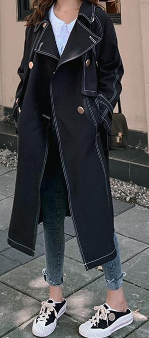 Women's Trench Lapel Collar Coat
