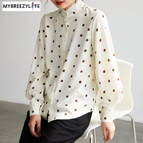 Vintage Polka Dots Pattern Top
