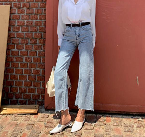 Vintage Loose Fly Wide Leg Denim Jeans