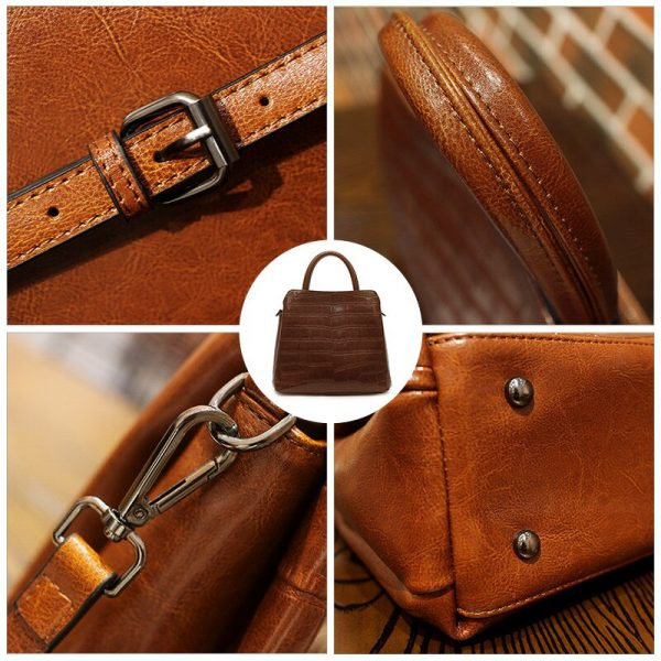 REALER Leather Luxury Handbags Women Bags Shoulder Bag Quality Leather Crossbody Bags Designer 2020 Fashion for Women Messenger