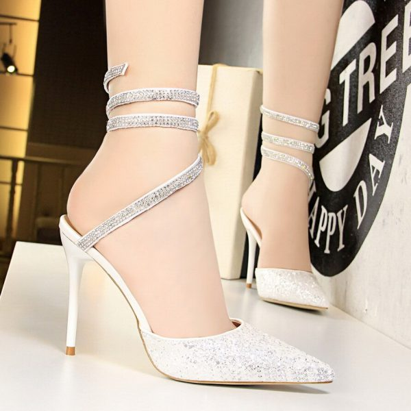 Bling Sequin pointed Toe High Heels