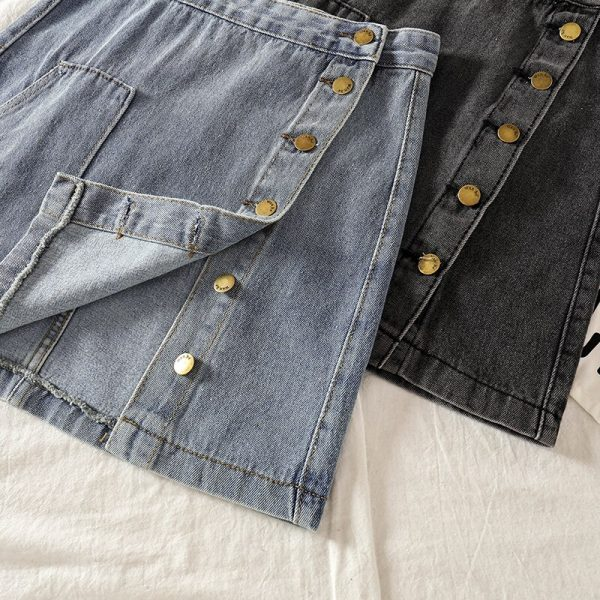 Casual High Waist Pencil Denim Skirts