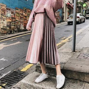 Loita Style A-line Pleated Skirt