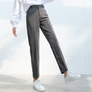 Plus Size Elastic Waist Loose Pants
