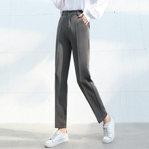 Plus Size Elastic Waist Loose Pants