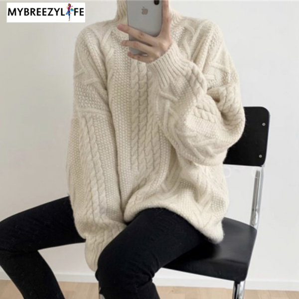 Chic Turtleneck Warm Twisted Knitted Jumpers