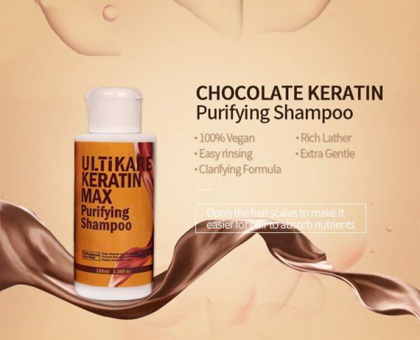 Ultikare Chocolate Keratin Max Purifying Shampoo
