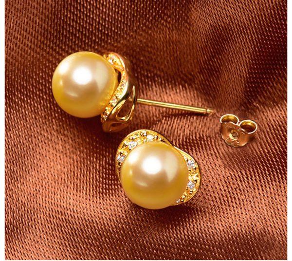 Love Akoya Pearl Stud Earrings